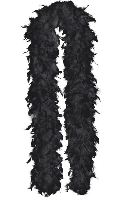 Black Feathered Boa 72in
