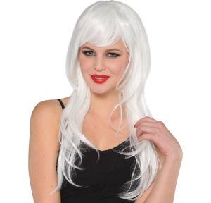 Glamorous Long White Wig
