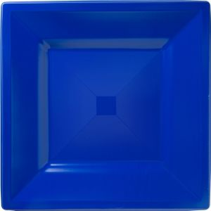 Royal Blue Premium Plastic Square Dinner Plates 10ct