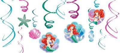 Little Mermaid Swirl Decorations 12ct