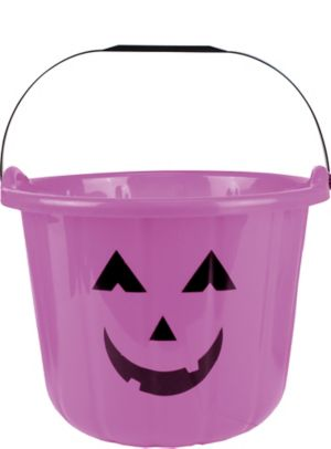 Purple Jack-o'-Lantern Treat Bucket