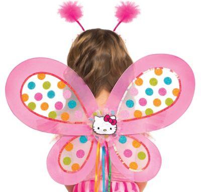 Child Polka Dot Hello Kitty Wings