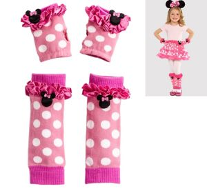 Child Minnie Mouse Gloves and Leg Warmers Set