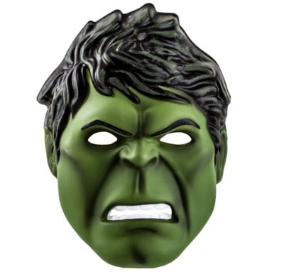 Child Plastic Hulk Mask
