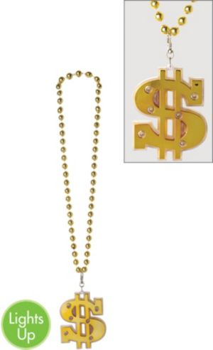 Light-Up Dollar Sign Necklace