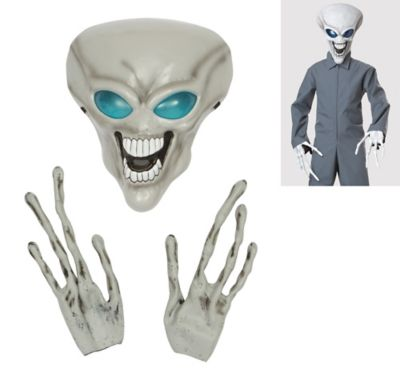 Child Alien Mask and Hands Set