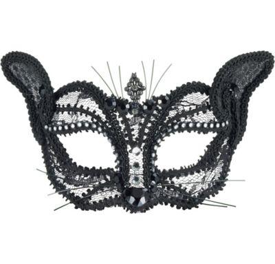 Black Cat Masquerade Glasses