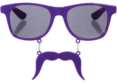 Purple Handlebar Sun-Stache