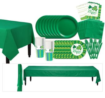 St Patrick's Day Cheer Tableware Kit for 100 Guests
