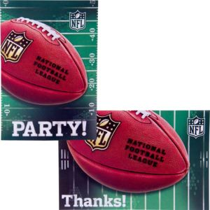 NFL Invitations & Thank You Notes For 8