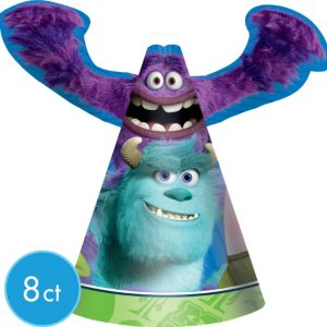 Monsters University Party Hats 8ct