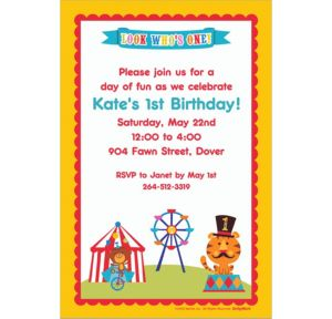 Custom Fisher Price 1st Birthday Invitations