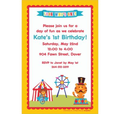 Custom Fisher Price 1st Birthday Invitations