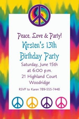 Custom Feeling Groovy Invitations