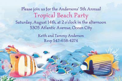Tropical Summer Custom Invitation