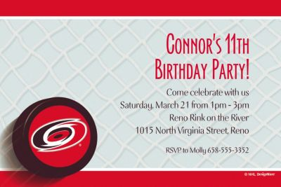 Custom Carolina Hurricanes Invitations