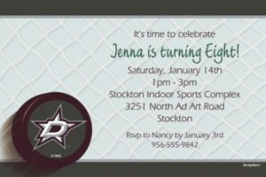 Custom Dallas Stars Invitations