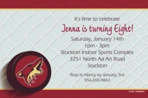 Custom Arizona Coyotes Invitations
