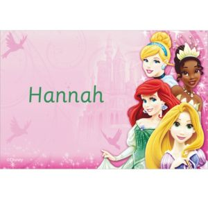 Custom Disney Princess Sparkle Thank You Notes