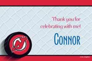 Custom New Jersey Devils Thank You Notes