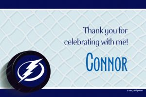Custom Tampa Bay Lightning Thank You Notes