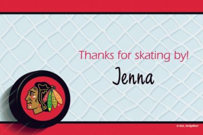 Chicago Blackhawks Custom Thank You Note