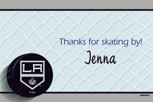 Custom Los Angeles Kings Thank You Notes