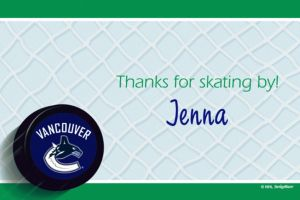 Custom Vancouver Canucks Thank You Notes