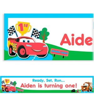 Custom Cars 1st Birthday Banner 6ft