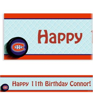 Custom Montreal Canadiens Banner 6ft