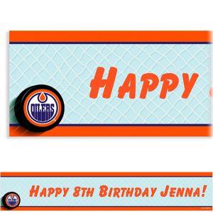 Custom Edmonton Oilers Banner 6ft