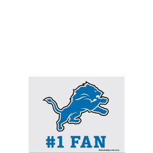 Detroit Lions #1 Fan Decal