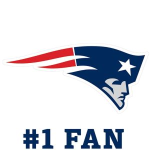 New England Patriots #1 Fan Decal