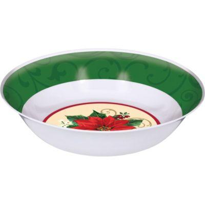 Poinsettia Plastic Bowl