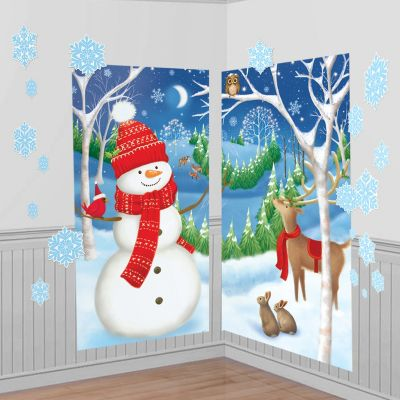 Winter Wall Decorations 32pc