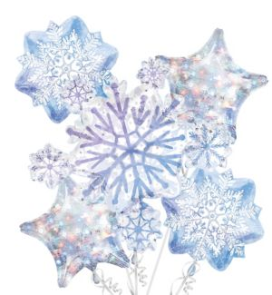 Snowflake Balloon Bouquet 5pc