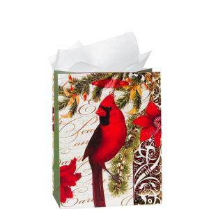 Cardinal Christmas Gift Bag