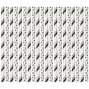 Wilton Black & White Dots & Stripes Lollipop Sticks 30ct