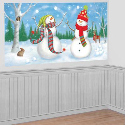 Whimsical Snowmen Scene Setter