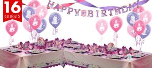 Sofia the First Deluxe Party Kit for 16 Guests