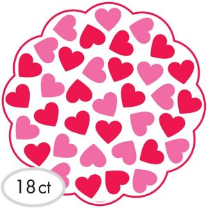 Valentine's Day Doilies 18ct