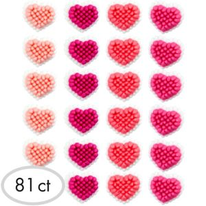 Mini Hearts Icing Decorations 81ct