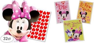 Minnie Mouse Valentine Exchange Cards 32ct