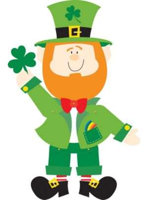Jointed Leprechaun Cutout
