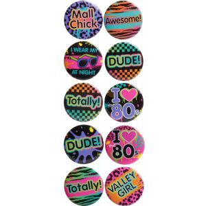 Totally 80s Buttons 10ct
