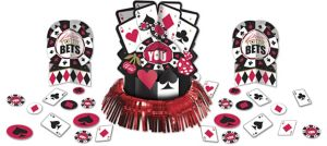Place Your Bets Casino Table Decorating Kit 23pc