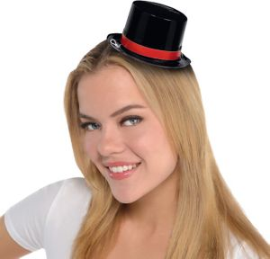 Shiny Black Mini Top Hat