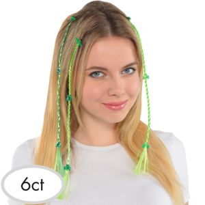 Shamrock Braided Hair Extensions 6ct