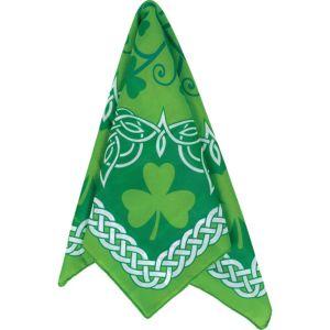 St. Patrick's Day Celtic-Print & Shamrock Bandana