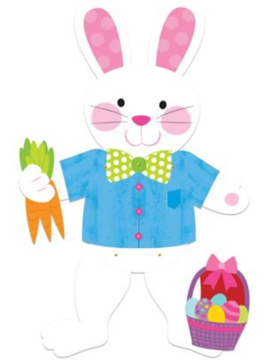 Jointed Easter Bunny Cutout